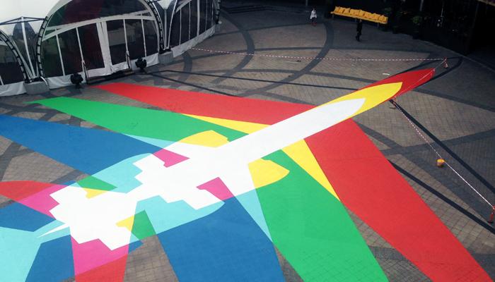 Rainbow Plane 002 - 2