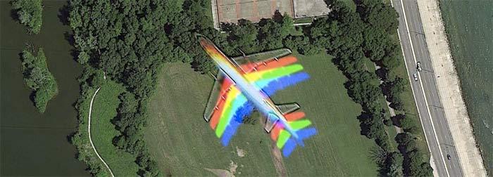 Rainbow Plane (Google Maps)